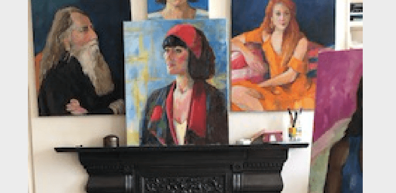 Jan Burgess meets portrait artist Jane Palmer